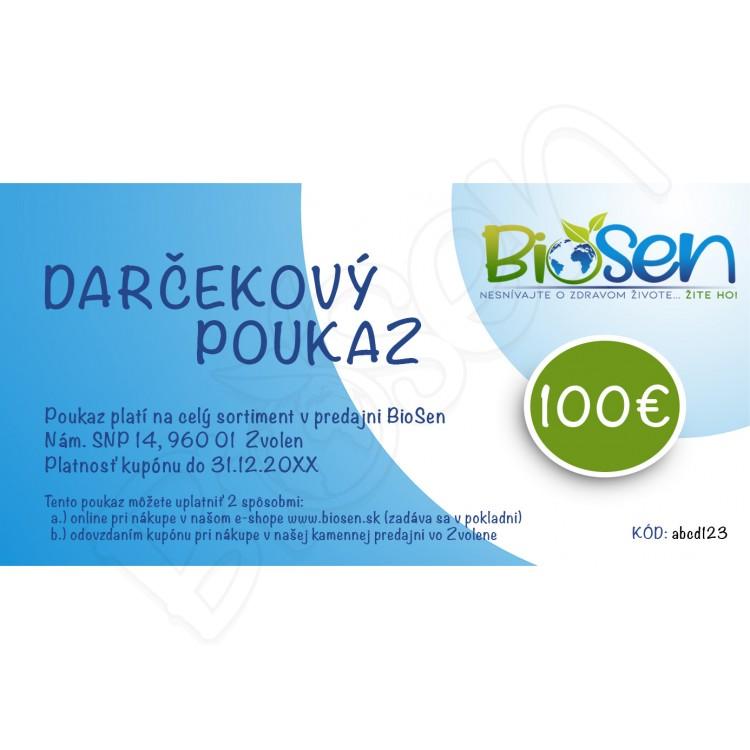 fbc735169 Darčekový poukaz v hodnote 100€