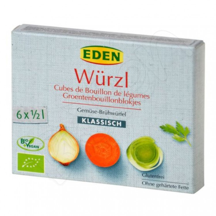 Bujón zeleninový Würzl - kocky BIO 66g Eden