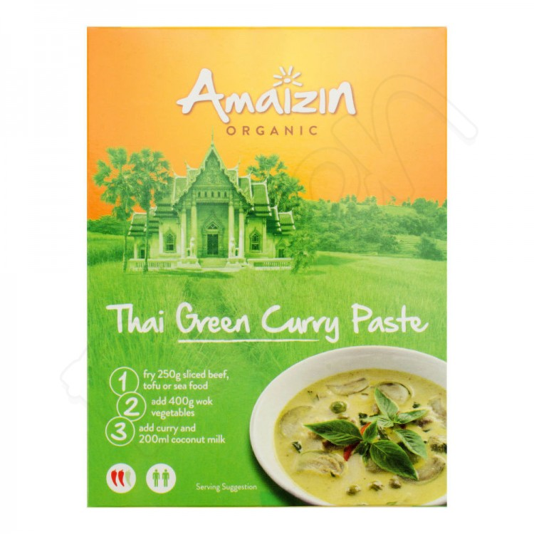 Pasta - thajské zelené kari BIO 80g Amaizin