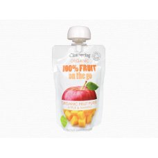 "Ovocné pyré Jablko - Mango BIO 120g ""on the go"" Clearspring"
