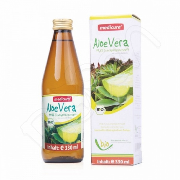 Aloe vera šťava 100%  BIO 330ml Medicura