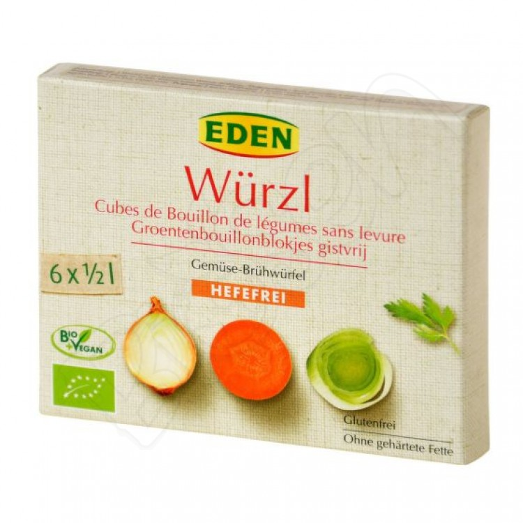 Bujón zeleninový Würzl - kocky bez droždia BIO 72g Eden
