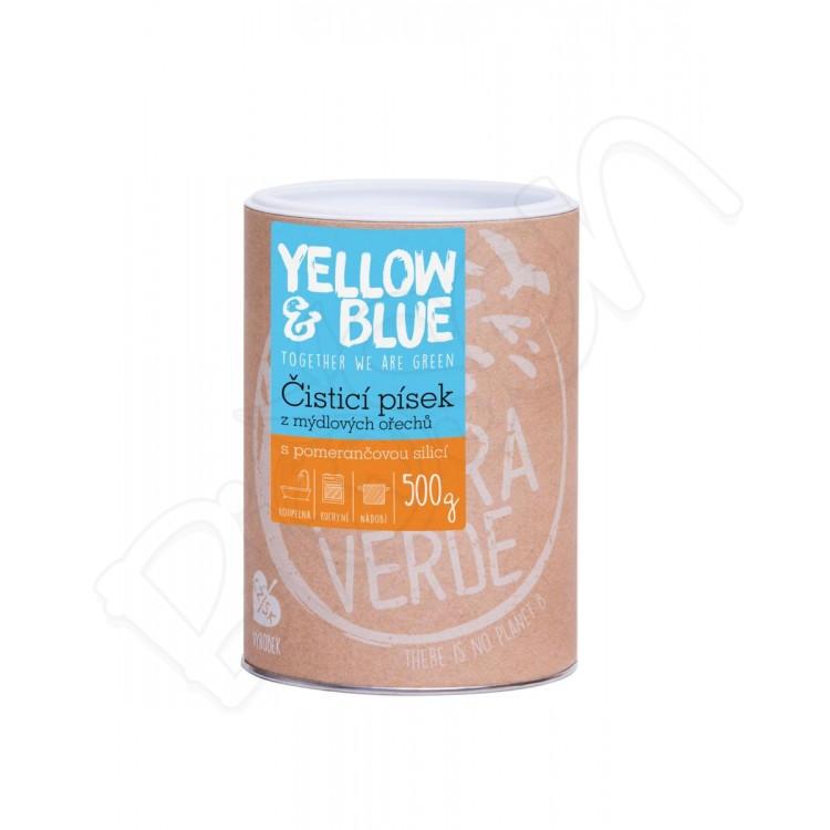 Čistiaci piesok z mydlových orechov 500g Yellow & Blue