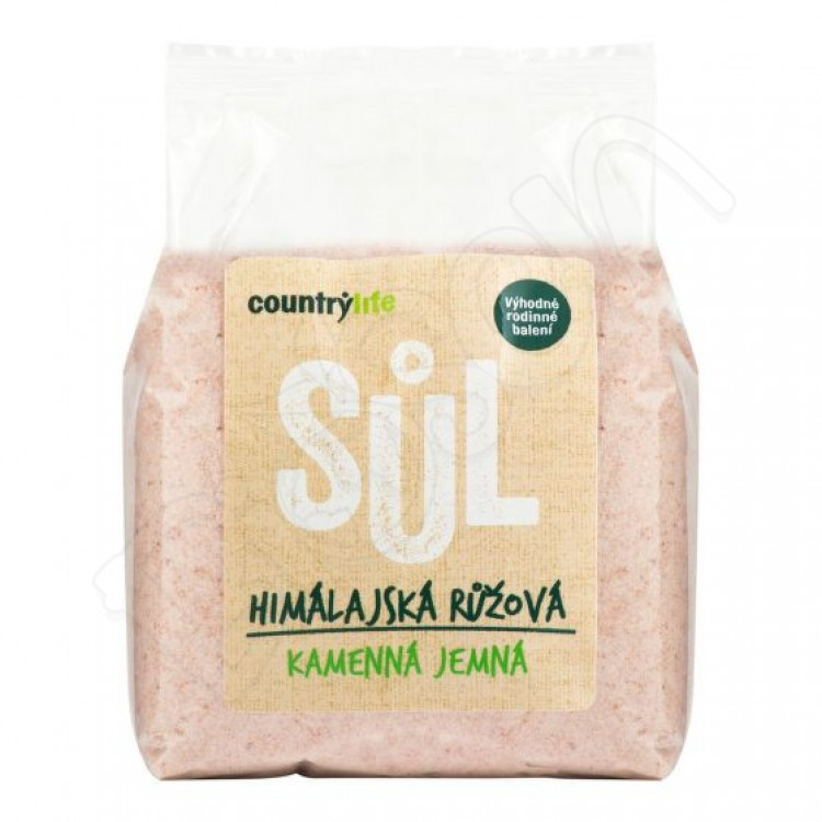 Himalájska soľ - ružová 1kg Country Life