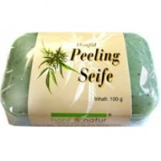 Peelingové konopné rastlinné mydlo 100g Hanf&Natur