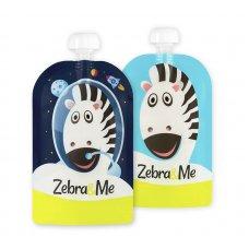 Kapsička na opakované použitie 2ks KOZMONAUT Zebra&Me