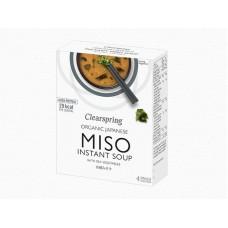 Miso instantná polievka s morskými riasami BIO 40g Clearspring
