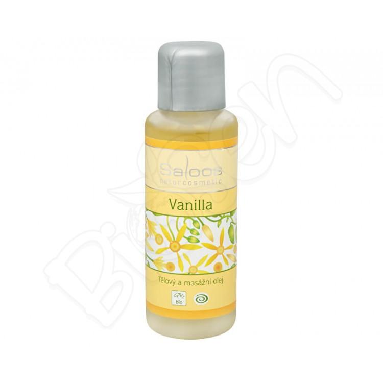 Vanilla masážny olej 50ml Saloos