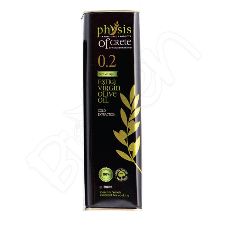 Olivový olej extra panenský z Kréty, acidita 0,2% 500ml Physis of Crete
