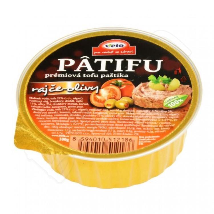 PATIFU paštéta paradajky a olivy 100g Veto Eco