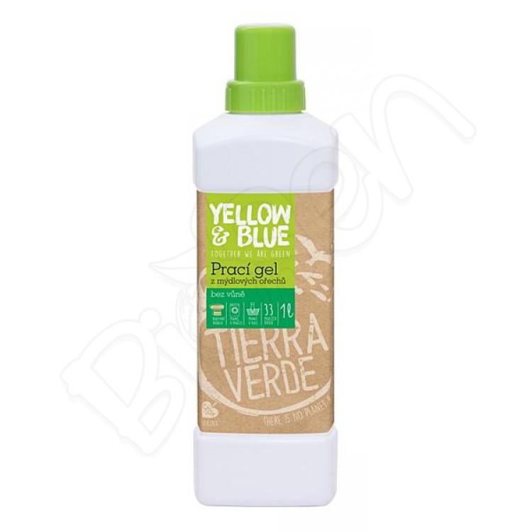Prací gel z mydlových orechov bez vône 1L Yellow & Blue