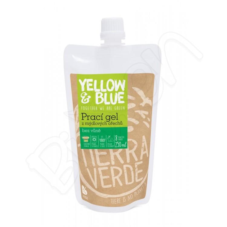 Prací gel z mydlových orechov bez vône 250ml Yellow & Blue