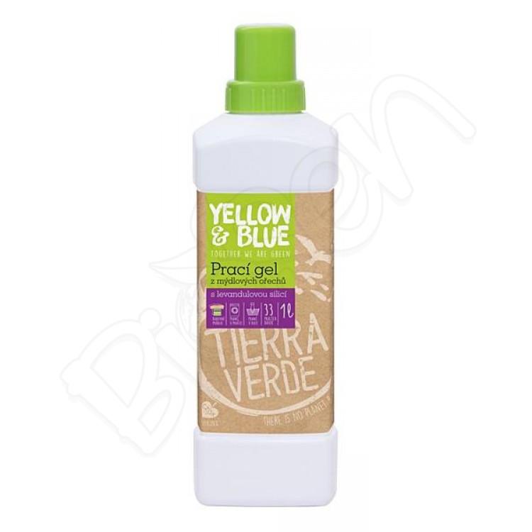 Prací gel z mydlových orechov 1L levanduľový Yellow & Blue