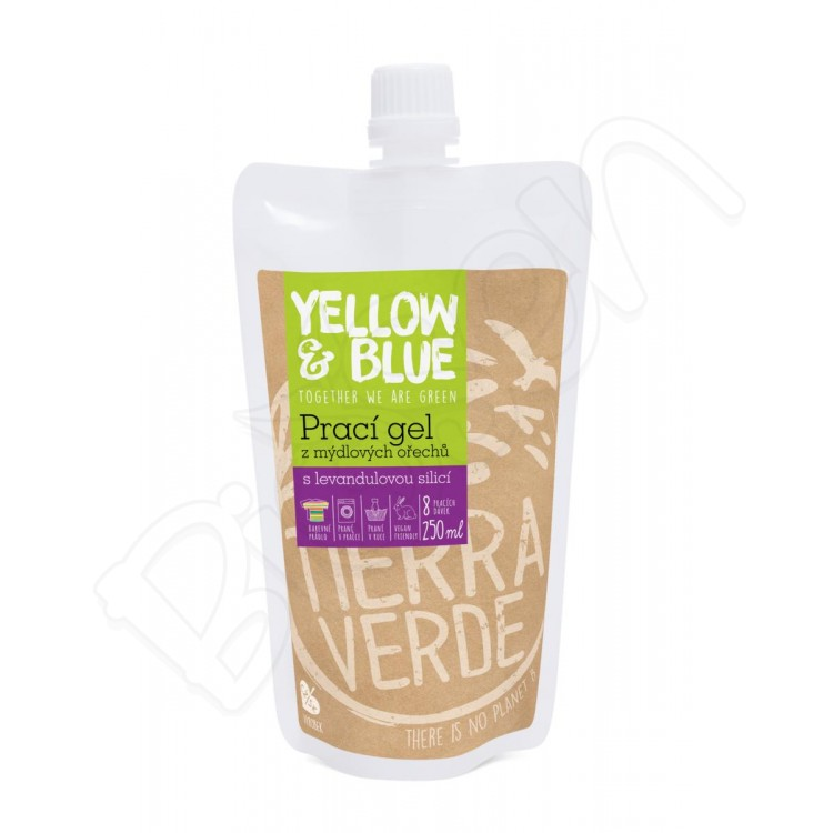 Prací gel z mydlových orechov 250ml levanduľový Yellow & Blue