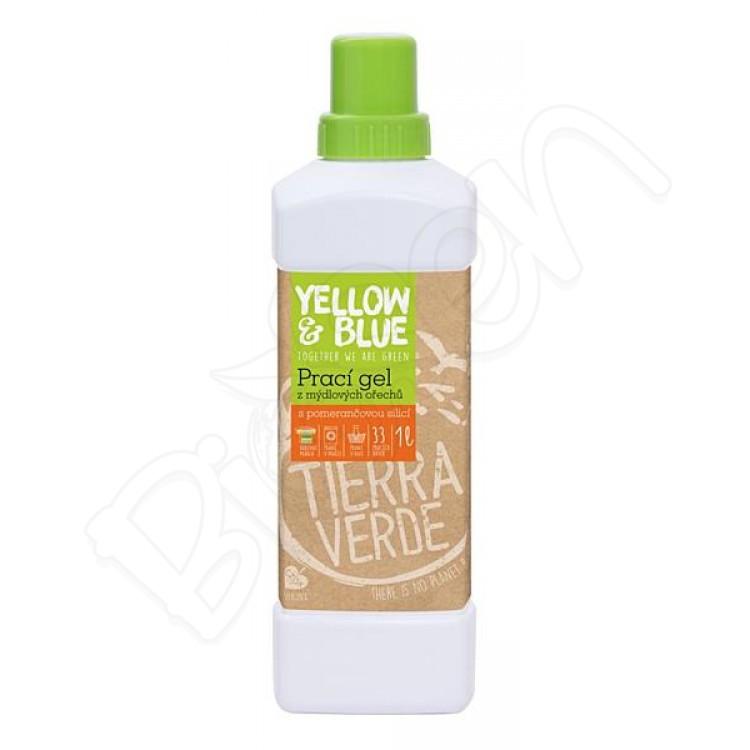 Prací gel z mydlových orechov 1L pomarančový Yellow & Blue