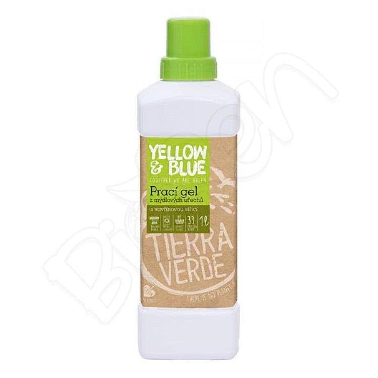 Prací gel z mydlových orechov 1L Litsea cubeba Yellow & Blue