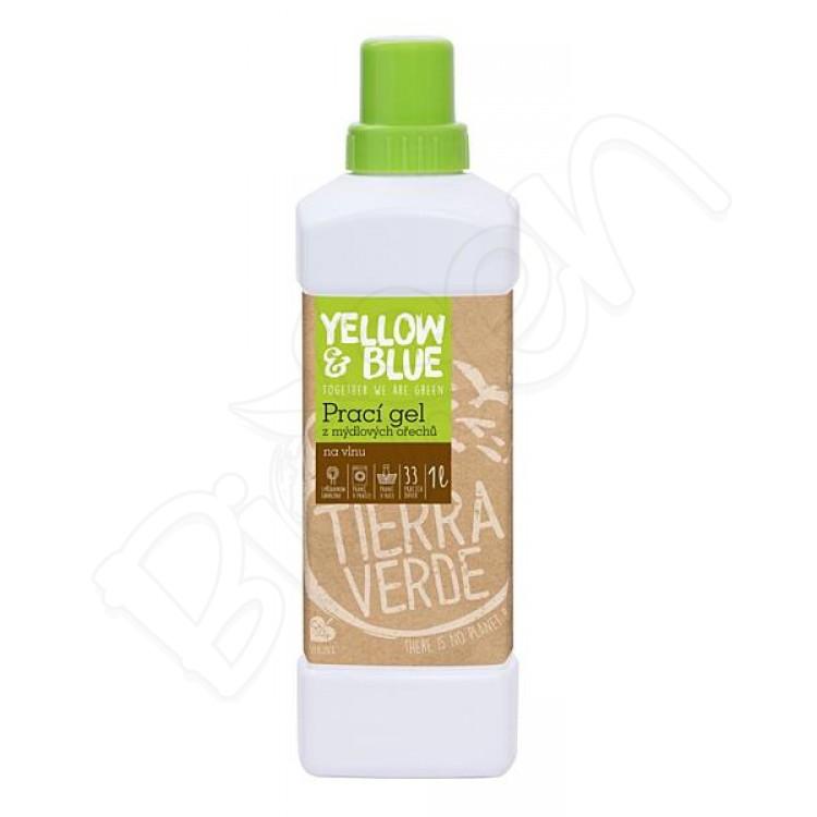Prací gel na vlnu a funkčný textil z merino vlny 1L Yellow & Blue