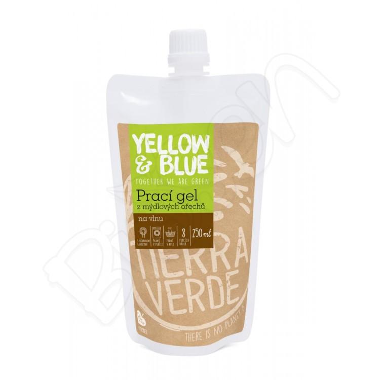 Prací gel na vlnu a funkčný textil z merino vlny 250ml Yellow & Blue