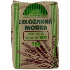 Pšeničná celozrnná múka BIO 1kg Natural Jihlava