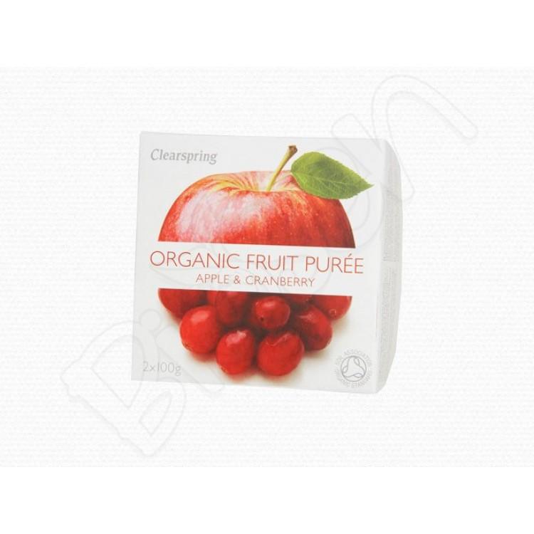 Ovocné pyré Jablko - Brusnica BIO 2x100g Clearspring