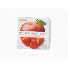 Ovocné pyré Jablko - Jahoda BIO 2x100g Clearspring