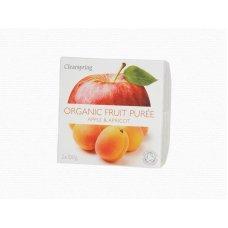 Ovocné pyré Jablko - Marhuľa BIO 2x100g Clearspring