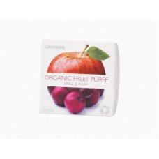 Ovocné pyré Jablko - Slivka BIO 2x100g Clearspring
