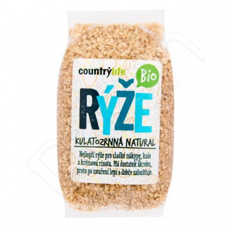 Guľatozrnná ryža natural BIO 500g Country Life