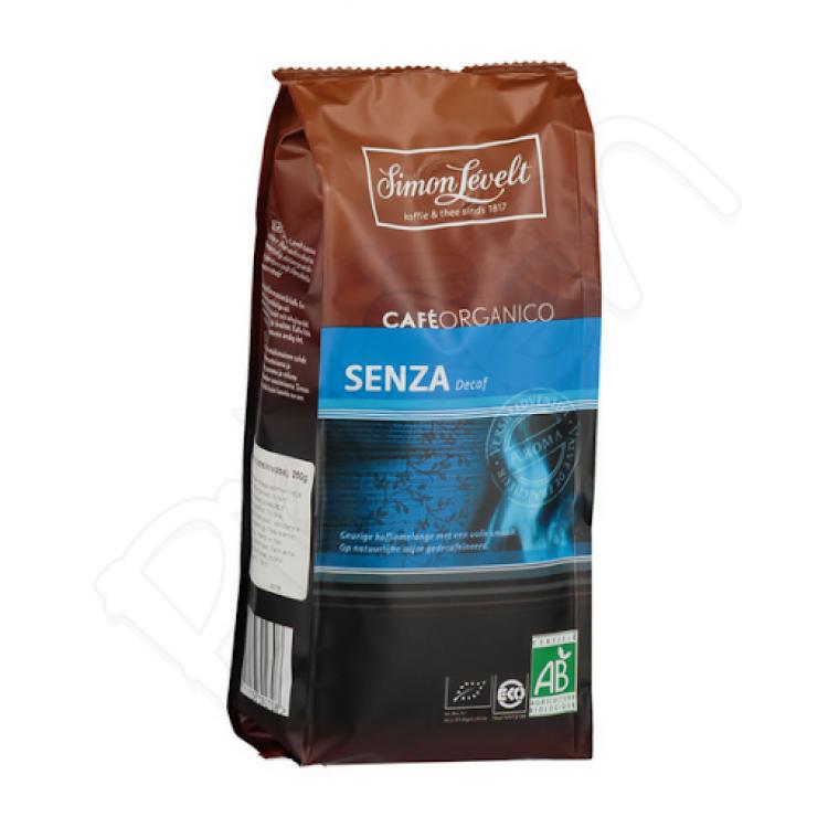 Káva SENZA Decaf mletá bez kofeínu 250g Simon Lévelt