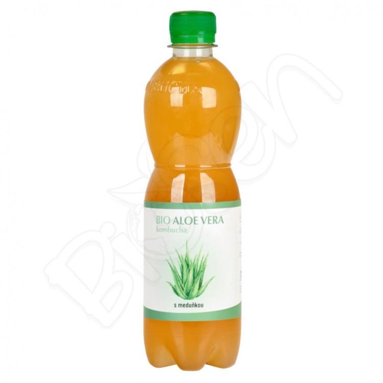 Kombucha Aloe Vera s medovkou BIO 0,5L Stevikom