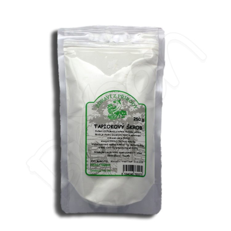 Tapiokový škrob 250g Zdravie z prírody