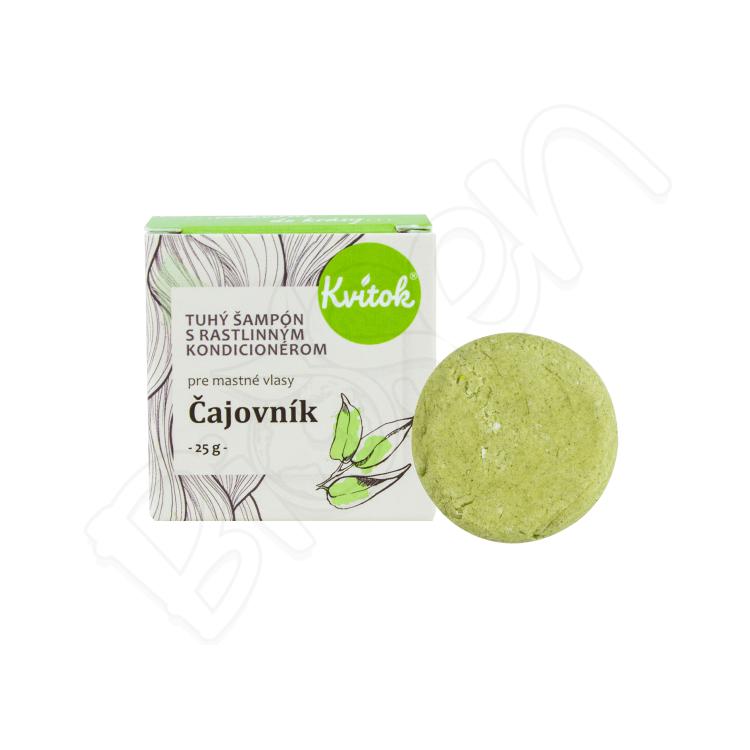 Tuhý šampón s kondicionérom - čajovník (pre MASTNÉ vlasy) 25g Kvitok