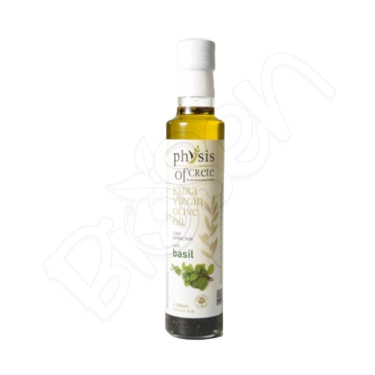 Olivový olej extra panenský z Kréty - BAZALKA 250ml Physis of Crete