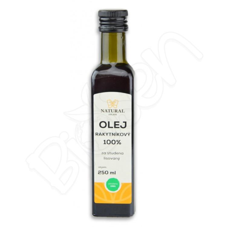 Rakytníkový olej 100% za studena lisovaný 250ml Natural Jihlava