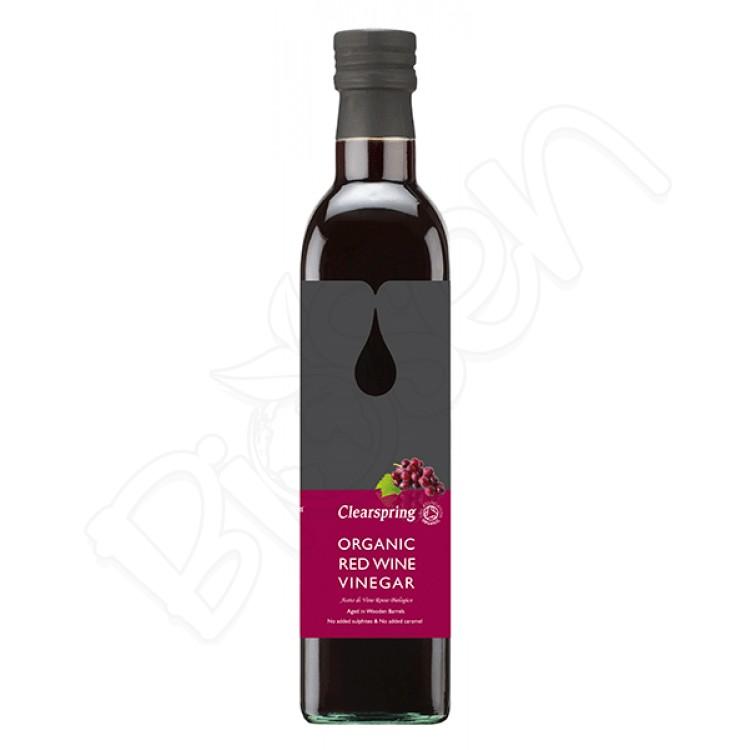 Vínny ocot z červeného hrozna BIO 500ml Clearspring