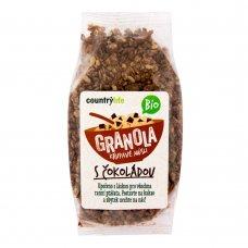 Granola - chrumkavé ovsené vločky s čokoládou BIO 350g Country Life
