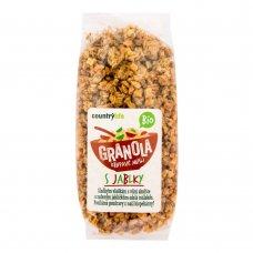 Granola - chrumkavé ovsené vločky s jablkami BIO 350g Country Life