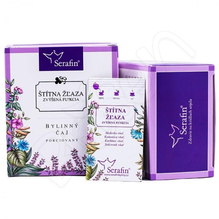 Štítna žľaza zvýšená porciovaný čaj 15x2,5g Serafin