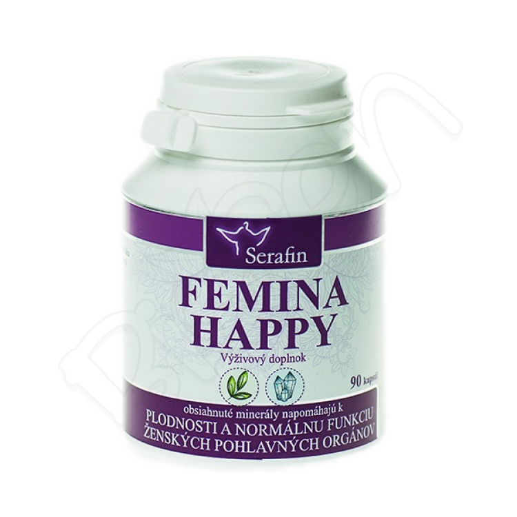 Femina happy - prírodné kapsule 90ks Serafin