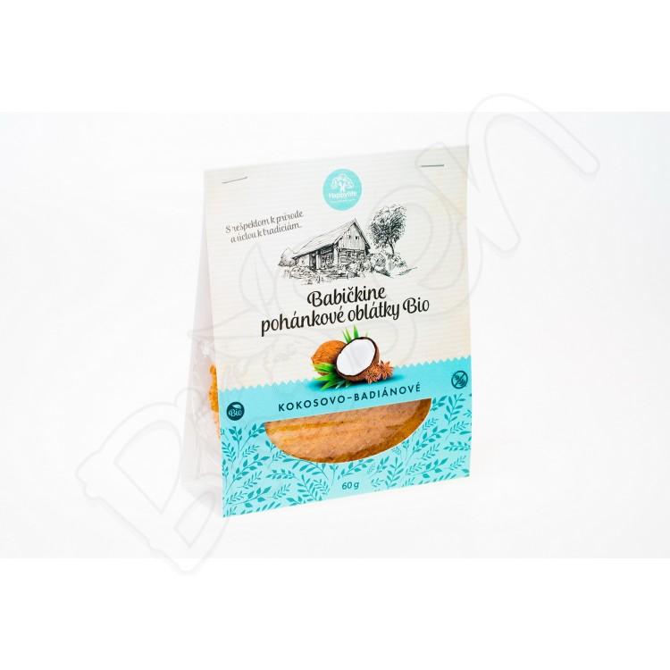 Babičkine oblátky kokosovo - badiánové BIO 60g Happy Life
