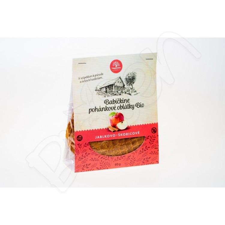 Babičkine oblátky jablkovo – škoricové BIO 60g Happy Life