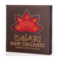 Čokoláda tvarovaná 80% JAHODA BIO RAW 75g Iswari