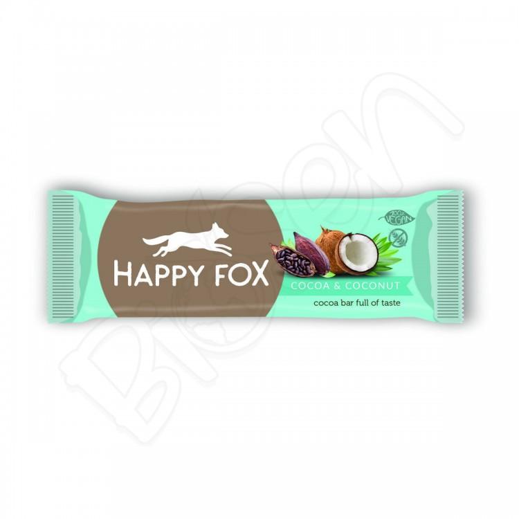 HAPPY FOX – Kakaová tyčinka s kokosom 50g Happy Life