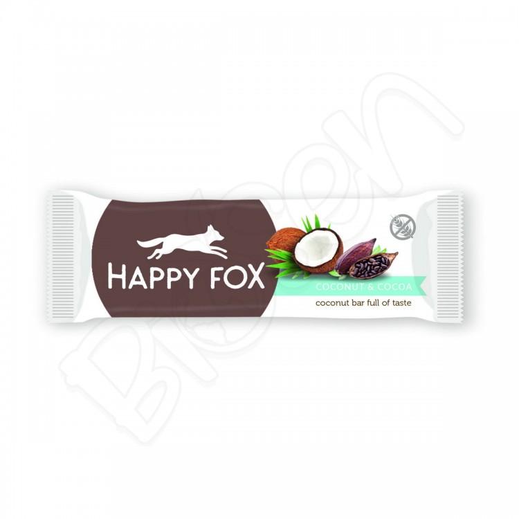 HAPPY FOX – Kokosová tyčinka s kakaom 40g Happy Life