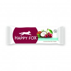 HAPPY FOX – Kokosová tyčinka s višňami 40g Happy Life