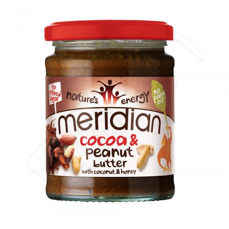 Arašidovo-kakaové maslo s kokosom 280g Meridian