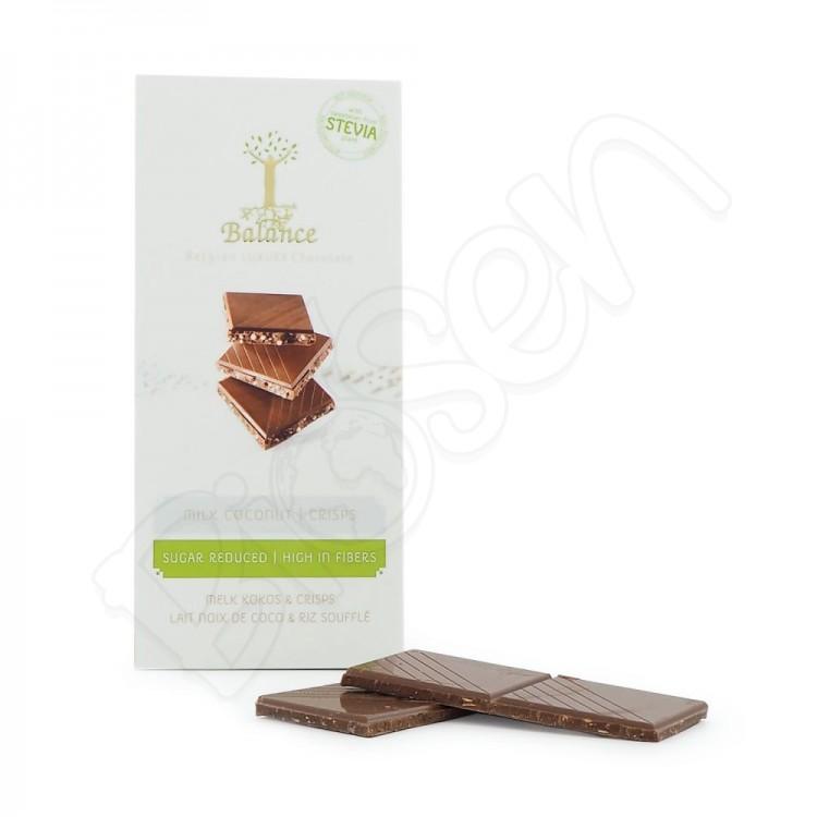 Čokoláda mliečna so stéviou - kokos a chrumky 85g Balance