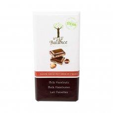 Čokoláda mliečna so stéviou - lieskové orechy 85g Balance