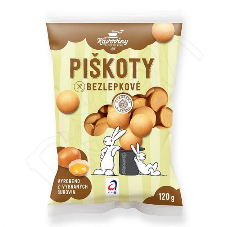 Piškóty bezlepkové 120g Kávoviny Pardubice