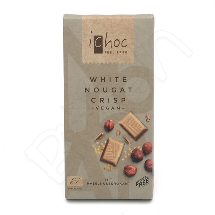 Ryžová čokoláda biela nugátová BIO 80g ichoc